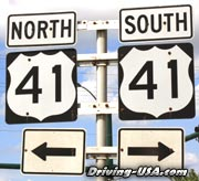 "Road Sign ""US 41"""